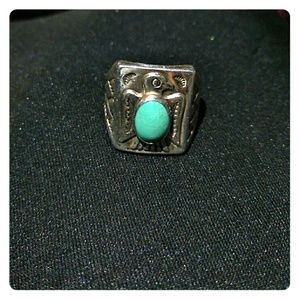 Bell Sterling Turquoise Ring